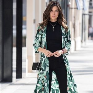 RACHEL ZOE COLLECTION Palm Print Duster